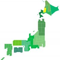 日本地図(石狩)