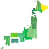 日本地図(道東)
